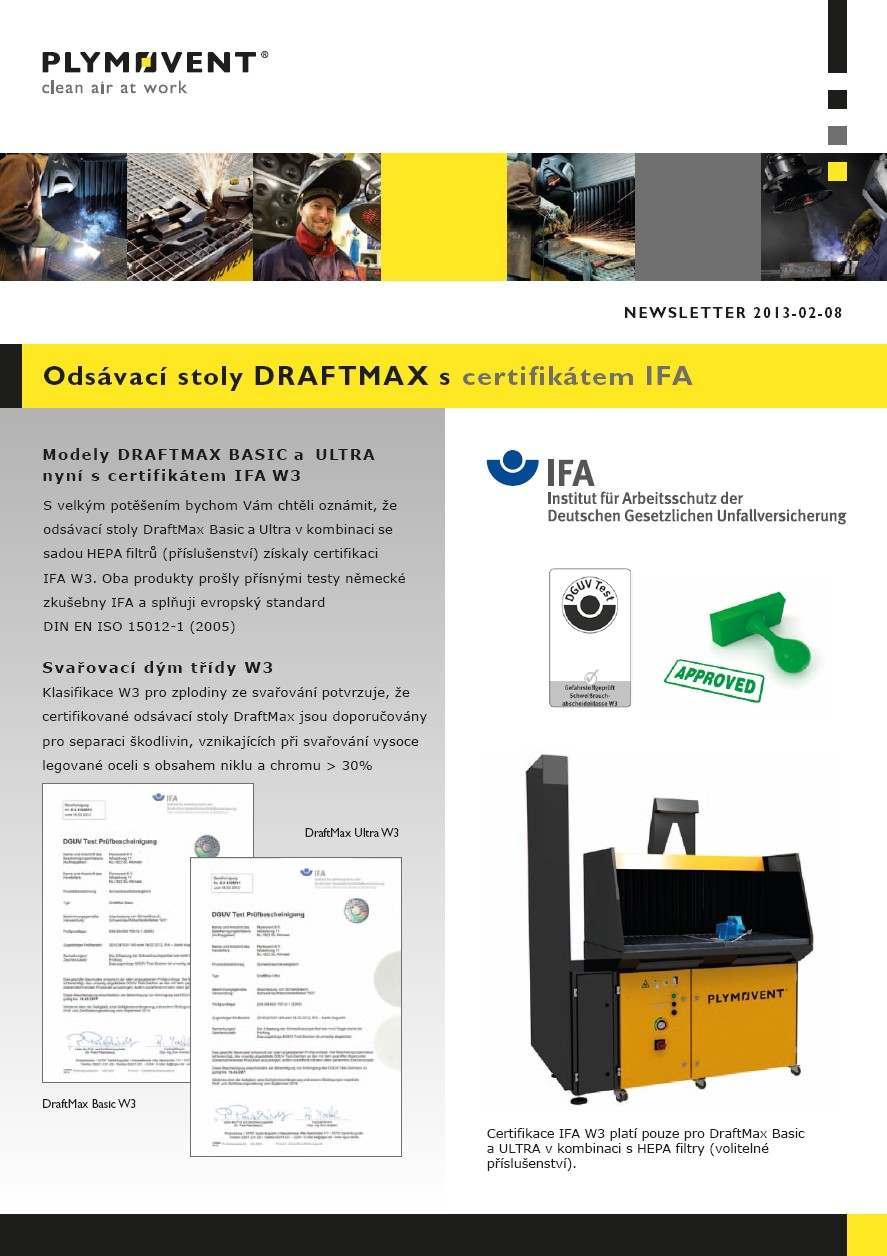 Plymovent DraftMax - odsávací stoly pro broušení a svařování