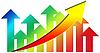 růst šipka graf